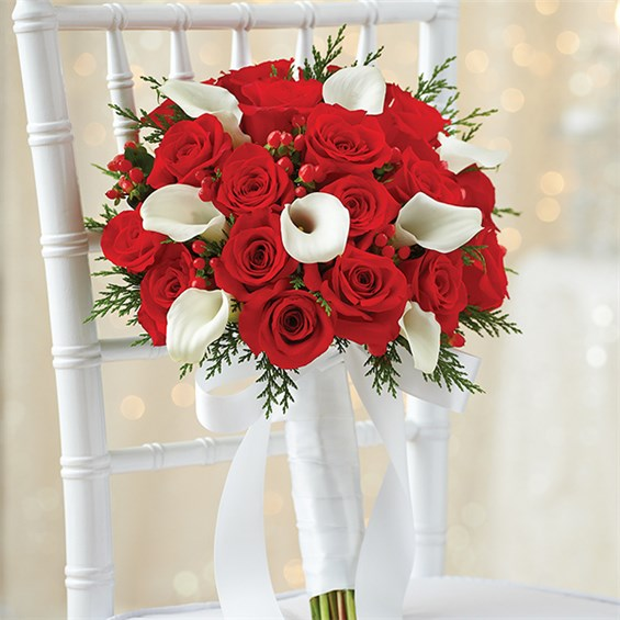 800 FLOWERS HOLIDAY BRIDAL BOUQUET Mele Brothers Sister